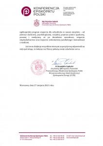 Apel przewodniczącego KEP ws Dnia Solidarności z Afgańczykami-2